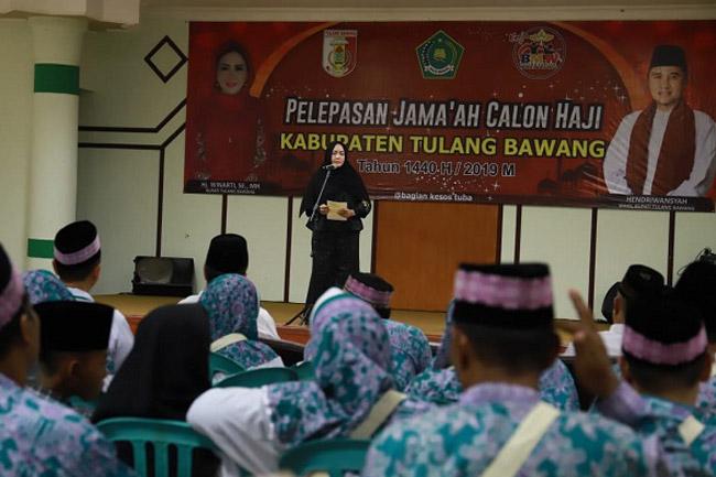 Bupati Tulangbawang Lepas 286 Orang Jamaah Haji Tahun 2019